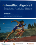Intensified Algebra I, Student Activity Book, Volume 1 (click for larger picture)